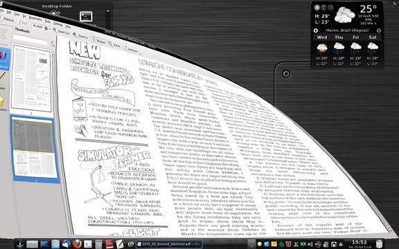 Compiz window top corner pulled down in KDE 4.6.2